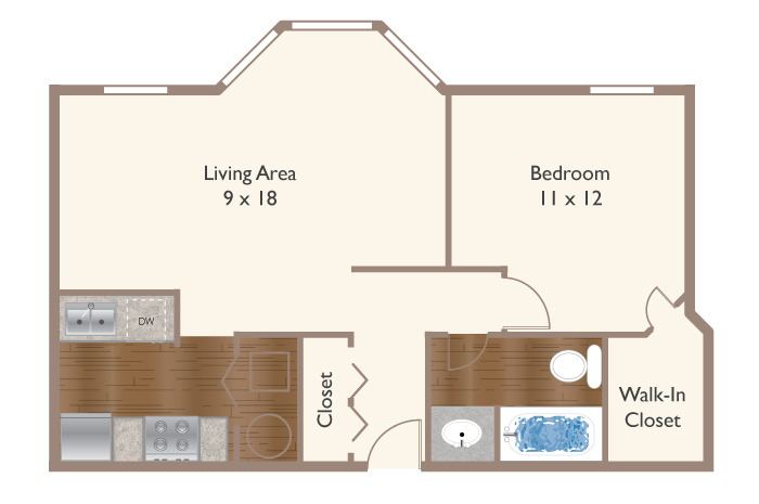 Raleigh 1B 590-635 Floor Plan Image